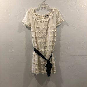 White/Cream Ruffle Dress